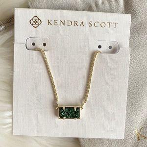 Kendra Scott Pattie Necklace in Sage Drusy & Gold